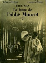 La Faute De L'Abbe Mouret. Tome 3. Collection : Select Collection N° 17 - Couverture - Format classique