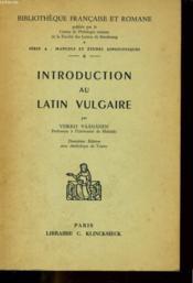 Introduction Au Latin Vulgaire - Couverture - Format classique