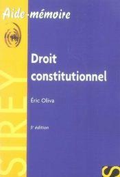 Droit constitutionnel (5e edition) - Intérieur - Format classique
