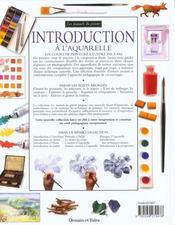 Introduction a l'aquarelle - 4ème de couverture - Format classique