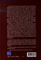 Les origines de la solution finale ; l'évolution de la politique anti-juive des nazis ; septembre 1939 - mars 1942 - 4ème de couverture - Format classique