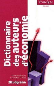 Dictionnaire des auteurs d'économie - Couverture - Format classique
