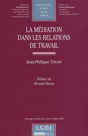 La médiation dans les relations de travail - Intérieur - Format classique