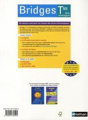 BRIDGES ; anglais ; terminales ST ; manuel de l'élève + CD audio (édition 2008) - 4ème de couverture - Format classique