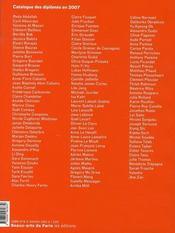 Le catalogue des diplômés 2007 - 4ème de couverture - Format classique