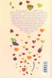 La cuisine de l'amour - 4ème de couverture - Format classique
