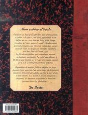 Cahier D Ecole (Mon) - 4ème de couverture - Format classique