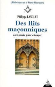 Des Rites Maconniques T.2 - Couverture - Format classique