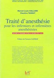 Traite D' Anesthesie Pour Les Infirmiers Et Infirmieres Anesthesistes - Intérieur - Format classique