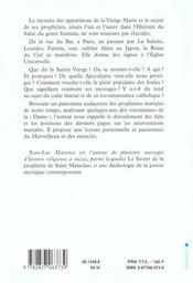 Le secret des apparitions et des propheties mariales - 4ème de couverture - Format classique