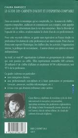 Le Guide Des Cabinets D'Audits Et D'Expertise Comptable - 4ème de couverture - Format classique
