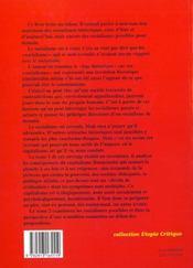 Socialisme est (a)venir tome1 - 4ème de couverture - Format classique