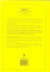 Bill'art ; le guide des galeries (6e édition) - 4ème de couverture - Format classique
