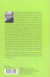 Athenais De Montespan - 4ème de couverture - Format classique