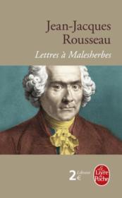 Lettres à Malesherbes - Couverture - Format classique