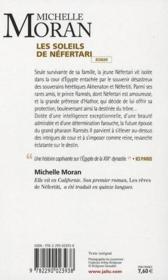 Les soleils de Néfertari - 4ème de couverture - Format classique