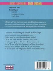 Contes classiques, texte original ; Grimm - 4ème de couverture - Format classique