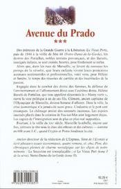 Avenue du prado - tome 3 le vieux port - vol03 - 4ème de couverture - Format classique