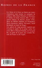 Reines de la France - 4ème de couverture - Format classique