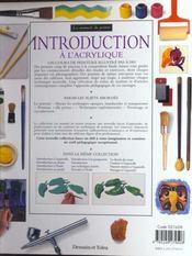 Introduction A L'Acrylique - 4ème de couverture - Format classique