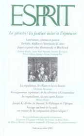 Revue Esprit ; Le Procès : La Justice Mise A L'Epreuve - Intérieur - Format classique