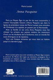 Anna Pasquine - 4ème de couverture - Format classique