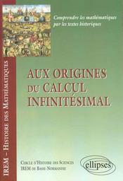 Aux Origines Du Calcul Infinitesimal - Intérieur - Format classique