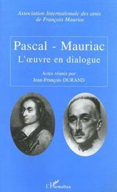 Pascal-Mauriac ; L'Oeuvre En Dialogue - Intérieur - Format classique
