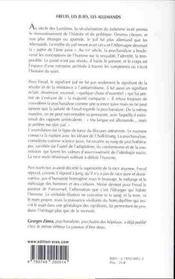 Freud, les Juifs, les Allemands - 4ème de couverture - Format classique
