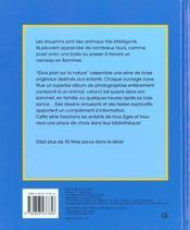 Gros Plan Sur La Nature 25. Le Dauphin - 4ème de couverture - Format classique
