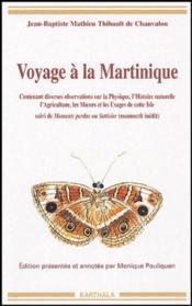 Voyage à la Martinique - Couverture - Format classique