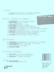 Revue contre-temps t.15 ; clercs ou chiens de garde - 4ème de couverture - Format classique