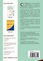 Problemes de mathematiques corriges et commentes t.1 ; algebre et analyse - Intérieur - Format classique