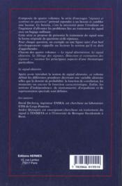 Le signal aleatoire - 4ème de couverture - Format classique
