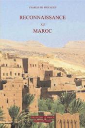Reconnaissance Au Maroc - Couverture - Format classique