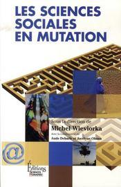 Les sciences sociales en mutation - Intérieur - Format classique