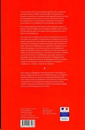 TRAVAUX (DIACT) ; l'évaluation des pôles de compétitivité 2005-2008 - 4ème de couverture - Format classique