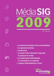 Mediasig 2009 - Couverture - Format classique
