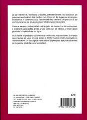 Mediasig 2009 - 4ème de couverture - Format classique