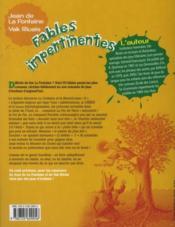Fables impertinentes ; cycle 3 ; 6e, 5e - 4ème de couverture - Format classique