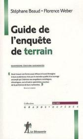 Guide de l'enquête de terrain (4e édition) - Couverture - Format classique