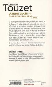 La reine violée t.1 ; éclose entre fleurs de lys - 4ème de couverture - Format classique