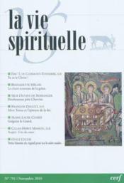 La Vie Spirituelle Vs791 - Couverture - Format classique