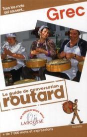 Le guide de conversation Routard ; grec - Couverture - Format classique