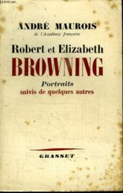 Robert Et Elisabeth Browning.Portraits Quivis De Quelques Autres. - Couverture - Format classique