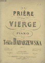 La Priere D'Une Vierge Pour Piano. - Couverture - Format classique