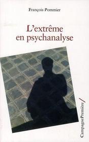 L'extrême en psychanalyse - Intérieur - Format classique