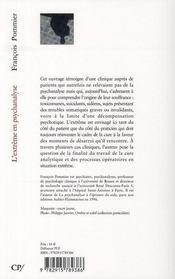 L'extrême en psychanalyse - 4ème de couverture - Format classique