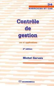 Controle De Gestion ; Cas Et Applications (2e Edition) - Couverture - Format classique