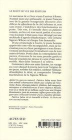 La signora Wilson - 4ème de couverture - Format classique